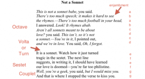 Where should a sonnet turn